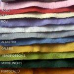 Paleta de culori pentru hartia plantabila