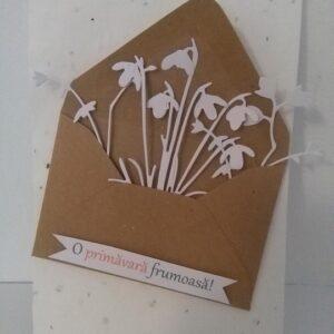 Flori de primavara in plic