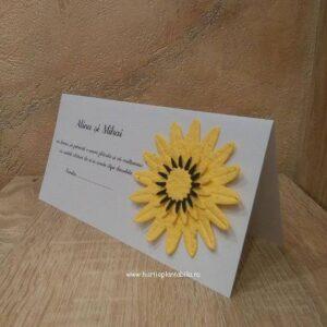 Card de masa cu floarea soarelui