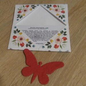Fluturas in plic floral